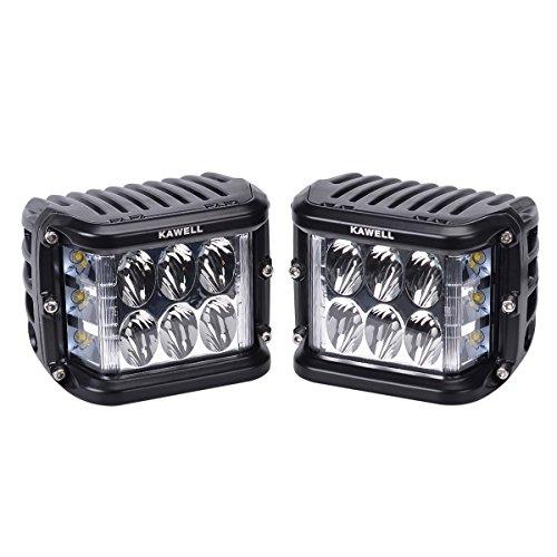 KAWELL cañón de lado doble LED cubo 45 W LED luz de trabajo Off road LED luz brillante para SUV camión coche