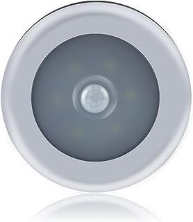 Ebilun Lámpara LED de inducción con sensor de movimiento, 3 pilas AAA (no incluidas), color blanco