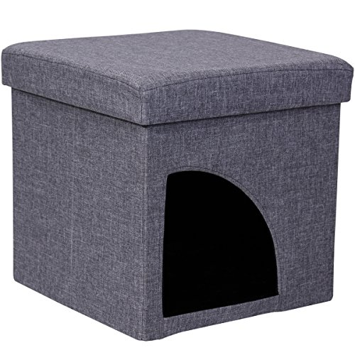 Favorite Soft Portable Opening Cat Play Cube Bed