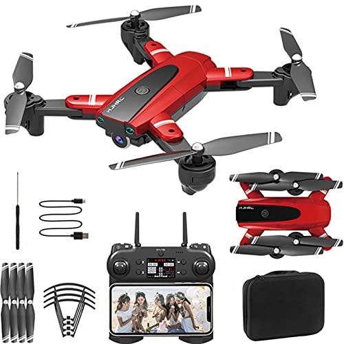 Drone HJ68 con videocamera 4K HD 120 °, Drone di Mantenimento dell'altitudine a Ritorno Automatico FPV WiFi con Funzione Follow Me, 60 Minuti di Volo con 3 batterie