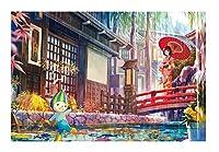 誕生日クリエイティブギフト木製パズル1000個パズルカードのおもちゃ(梅雨)