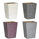 Noilyn Papelera Silver Paisley Papelera (Gris Pizarra) |Material Reciclado ecológico |No plástico