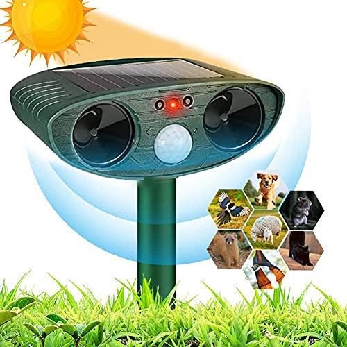 Katzenschreck Tiervertreiber, Solar Outdoor Wasserdicht Ultraschall Katzenschreck, Katzenvertreiber Ultraschall Tiervertreiber für Garten, Hunde, Vögel, Waschbären, Schädlinge