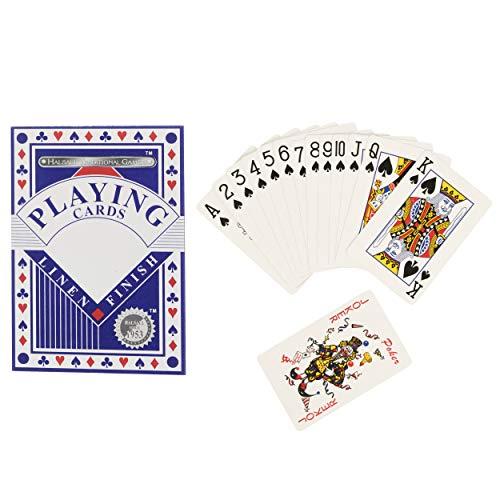 HTI Toys Traditional Games - Juego de cartas de lino