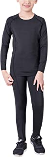 Minghe Thermal Underwear Fleece Lined Base Layer Set 2 Pcs Compression Long Johns Warm Top and Bottom