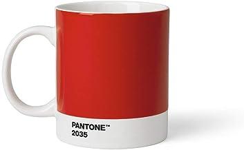 Copenhagen design Pantone Mug, Coffee/Tea Cup, Fine China (Ceramic), 375 ml, Red, 2035 C, Porcelana, One Size