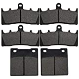 Yerbay Motorcycle Front and rear Brake Pads for Kawasaki Ninja ZX7R ZX 750 1996-2003 / ZRX1100 ZR 1100 C 1999 2000 / ZX12R ZX 1200 2000-2003 Replacement