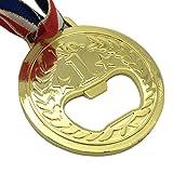 ounona abrebotellas Oro medalla geformt metal Vino y Cerveza accesorios