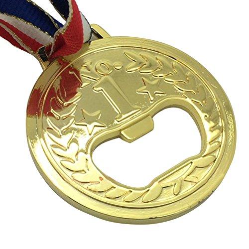 OUNONA Flaschen?ffner Goldmedaille geformt Metall Wein und Bier Zubeh?r