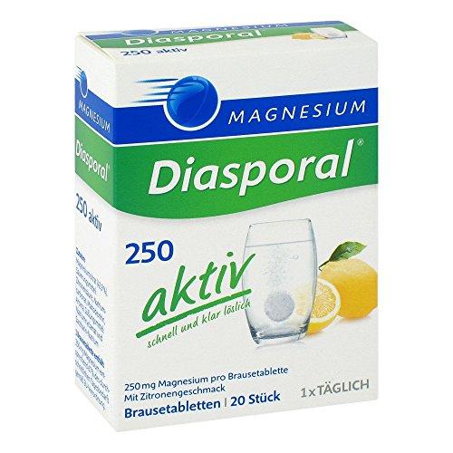 Magnesium Diasporal 250 aktiv Brausetabletten, 80 g
