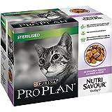 PRO PLAN - Nutrisavour Stérilisé - A la Dinde en gelée - 10 x 85 g - Sachets repas pour chat adulte