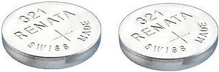 RENATA Lot de 2 Blisters de 1 Pile bouton oxyde argent X321 SR616SW