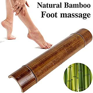 Natural Bamboo Tread Foot Acupressure Massage Blood Circulation Fatigue Recovery x 1(pcs)