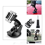 Vamson VP520 for Go Pro 8 9 Accessories 7cm Car Mount Windshield Suction Cup for Gopro Hero 9 8 7 6 5 4 for SJCAM for Yi 4K (Vp520+VP108-LS)