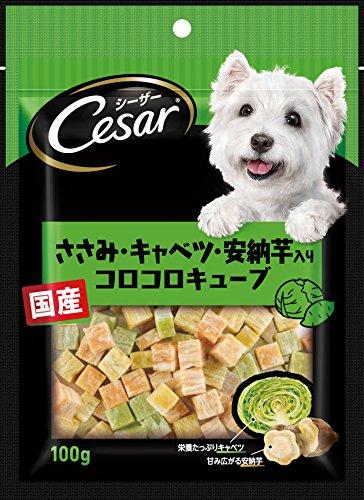 シーザー シーザースナック ささみ・キャベツ・安納芋入りコロコロキューブ 100g