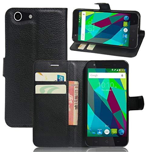 Litao-Case CN Funda para ZTE Blade A506 Funda Flip Cuero de la PU+ Cover Case de Silicona Protección Fija 5