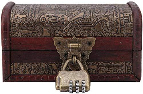 FTVOGUE Boîte en Bois de Rangement Égyptien Antique en Bois Vieux Bijoux Boîte à Bibelots Tir Ameublement Accessoires Artisanal à La Main(#1)