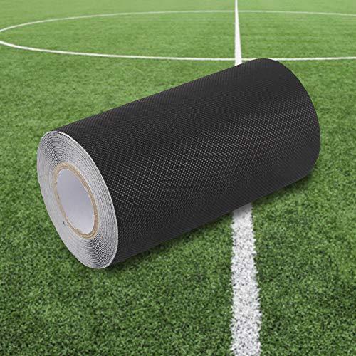 Raguso Kunstrasenband Schwarzes Grasband Künstliches Rasennähband 15 * 500 cm Selbstklebend zum Befestigen von Gartenteppich mit Gras