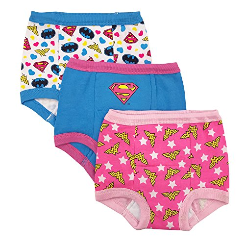 DC Comics Girls' Toddler 3-Pack, Assorted Justice League, 4T