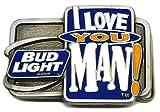 Bud Light Cerveza Hebilla de Cinturón - 'I Love You Man' Producto Auténtico con Licencia Oficial