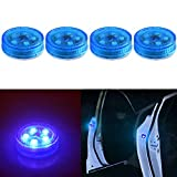 XTAUTO 5-LED Car Door Warning Light Universal Wireless Car Door Safety Warning Light for Anti Rear-End Collision (Blue)