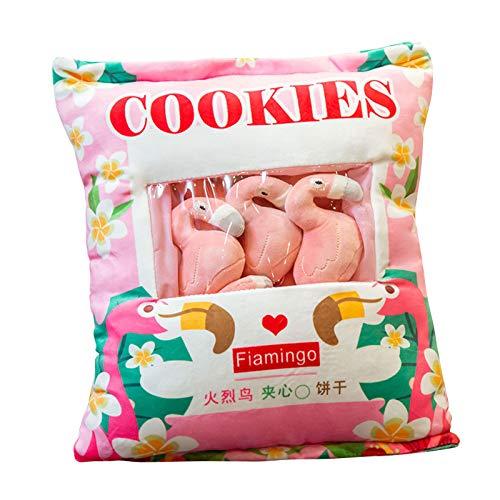 Zhongkaihua Lindo cojín de peluche juguetes de peluche almohada con...
