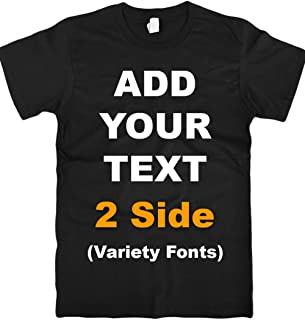 Sponsored Ad - Custom T Shirts Front & Back Add Your Text Ultra Soft for Men & Women Cotton T Shirt