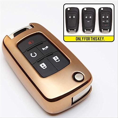 XVBTR TPU Schutz autoschlüssel Abdeckung Fall für Chevrolet Cruze 2011 Aveo t300 Captiva trax Tahoe Onix Camaro schlüsselanhänger Ring zubehörGold