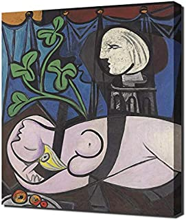 Pingoo Prints Pablo Picasso Nude Green Leaves and Bust - Canvas Art Print - Wall Art - Canvas Wrap