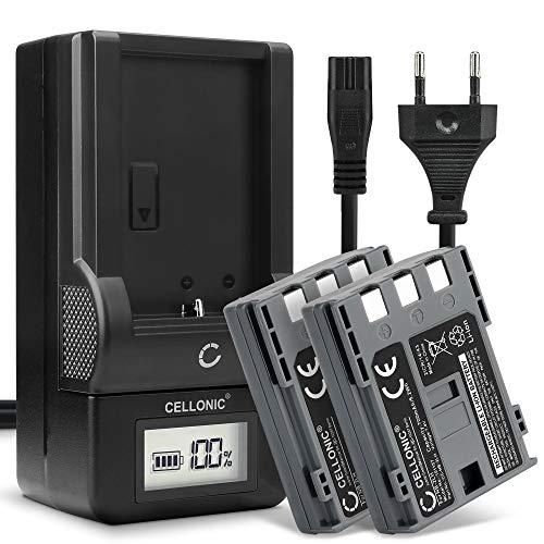 CELLONIC® 2x Batería de Repuesto NB-2L NB-2LH BP-2L5 per Canon EOS 400D 350D Digital Regel XTi PowerShot G7 G9 S50 HG10 Legria HF R16 R106 MD235 700mAh + Cargador CB-2L CBC-NB2 Accu Sustitución Camara