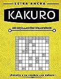 Kakuro: Libro de puzzles Kakuro para adultos, letra grande, diferentes niveles disponibles, fácil,...