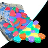 Ruiccsy 300 Stück Bunt Leuchtsteine, Dekorative Steine Leuchtende Kieselsteine Leuchten im Dunkeln für Gartenweg, Aquarium Aquarium, Flur Kinderzimmer Dekor