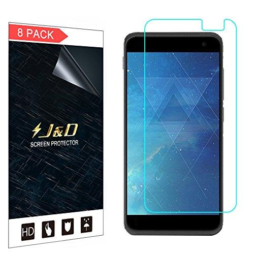 J&D Compatible para 8 Paquetes Smart Platinum 7 Protector de Pantalla, [NO Cobertura Completa] Prima Escudo de Película Transparente HD Protector de Pantalla para Vodafone Smart Platinum 7