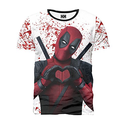 Noorhero - T-Shirt Herren - Deadpool Love