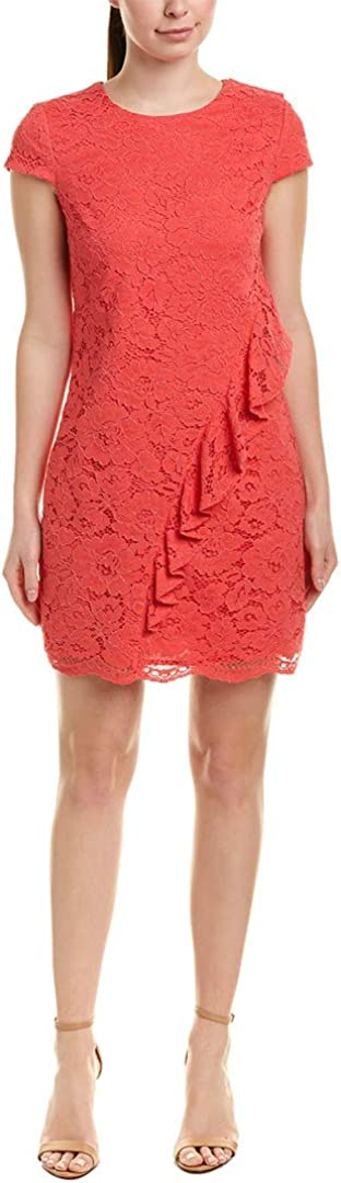 Vince Camuto Women's Lace Ruffle Shift Dress