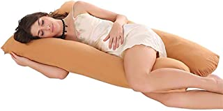 ZXCVBNM Full Body U Shaped Pillow Pregnancy, Maternity Pillow Back Pain Relief The Best Full Body Contoured Pillow for Back, Hips, Legs, Belly 120x65x10cm