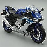 HBSM Juguetes De Simulación Clásicos En Miniatura 1:12 Modelo De Motocicleta Fundido A Presión para Y-amaha YZF R1 Bicicleta Deportiva para Colección (Color : Blue)