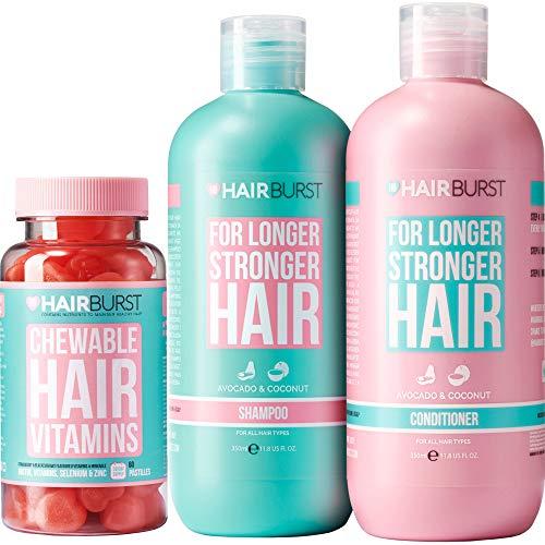 Coffret Shampoing, Après-shampoing & vitamines à mâcher Hairburst - Vitamines naturelles pour la pousse des cheveux