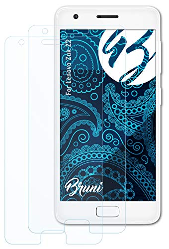 Bruni Schutzfolie kompatibel mit Lenovo Zuk Z2 Folie, glasklare Bildschirmschutzfolie (2X)