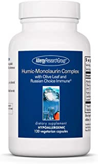 Allergy Research Group - Humic-Monolaurin Complex - with Olive Leaf, Immune Support - 120 Vegetarian Capsules