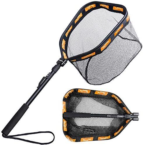 PLUSINNO Floating Fishing Net for Steelhead Salmon Fly Kayak Catfish Bass Trout Fishing Rubber product image