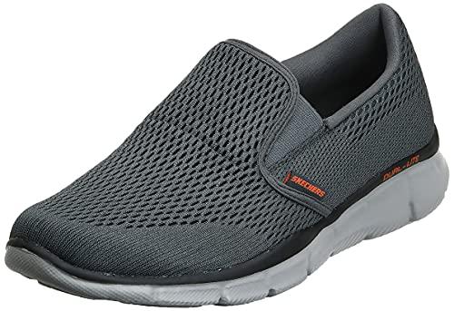 Skechers Men's Equalizer Double Play Slip-On Loafer,Charcoal/Orange,7 M US