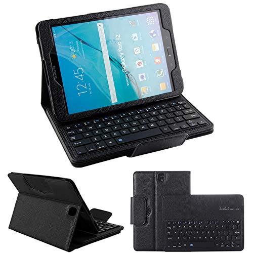 Funda con Teclado para Samsung Galaxy Tab3 / 4 P5200 / T530 De 10,1 Pulgadas, Funda Delgada De Cuero PU con Teclado Magnético Desmontable para Samsung Galaxy Tab3 / 4 P5200 / T530 De 10,1 Pulgadas