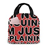 Yuanmeiju Boys Girls Insulated Neoprene Lunch Bag I'm Not Arguing. I'm Just Explaining Why I'm Right Red Tote Handbag Lunchbox Food Container Cooler Warm Pouch for School Work Office