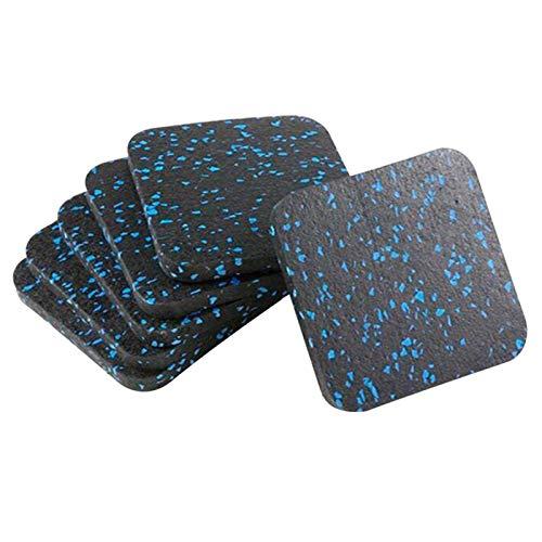 QOTSTEOS Alfombrilla de amortiguación de impactos, 4/6 piezas, amortiguación de vibración, aislamiento acústico, almohadilla gruesa para el suelo para cinta de correr, equipo de fitness impermeable