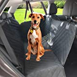 Upgraded Dog Seat Cover for Car with Mesh Window, Waterproof Scratch Proof Nonslip