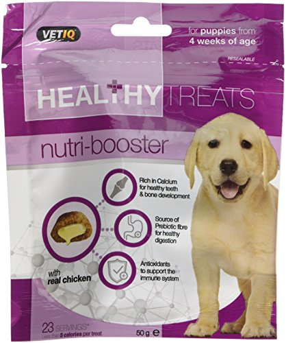 VetIQ Nutri Booster Healthy Treats with Calcium & Antioxidants for Puppies 50g (Pack of 6)