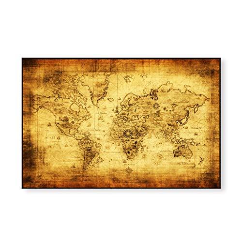 TMY Büro Globus Große Vintage Style Baumwolle Erde Karte Retro Papier Poster Globus Old World Karte Geschenke 71x51 cm (Größe : 60 * 90cm)