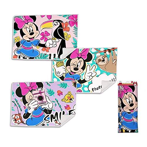 Kid Licensing Surtido 3 Diseños Toallitas de Mano Minnie 40X30Cm - Toallas