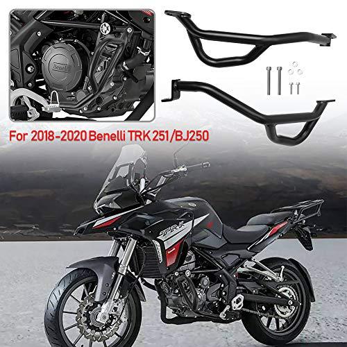 Motorcycle Steel Highway Engine Guard Bumper Lower Crash Bar Crashbar Body Frame Falling Protectors for 2018 2019 2020 Benelli TRK 251 TRK251 BJ250 Accessories 18 19 20 (Lower Part)